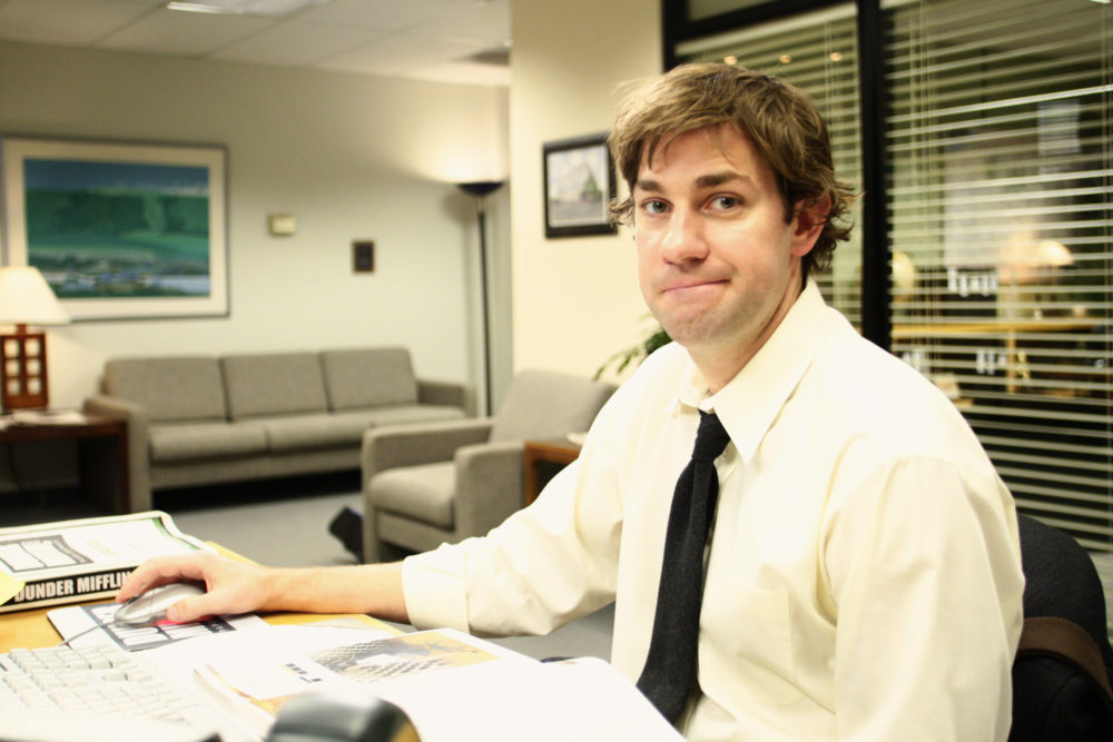 "John Krasinski is up for the ""Office"" reboot, in case anyone is wondering"