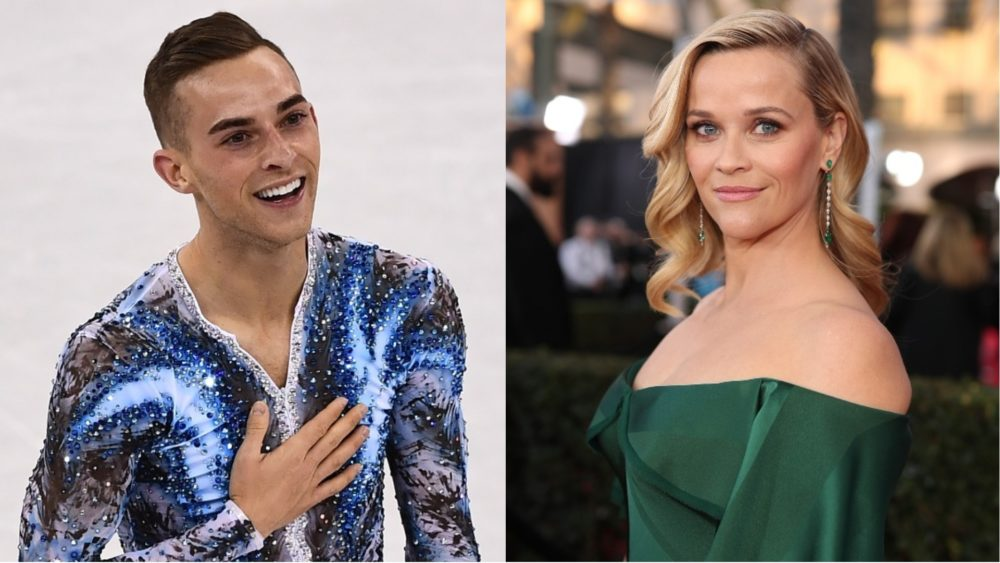 Most relatable Winter Olympics moment ever: Skater Adam Rippon just wants to make Reese Witherspoon proud