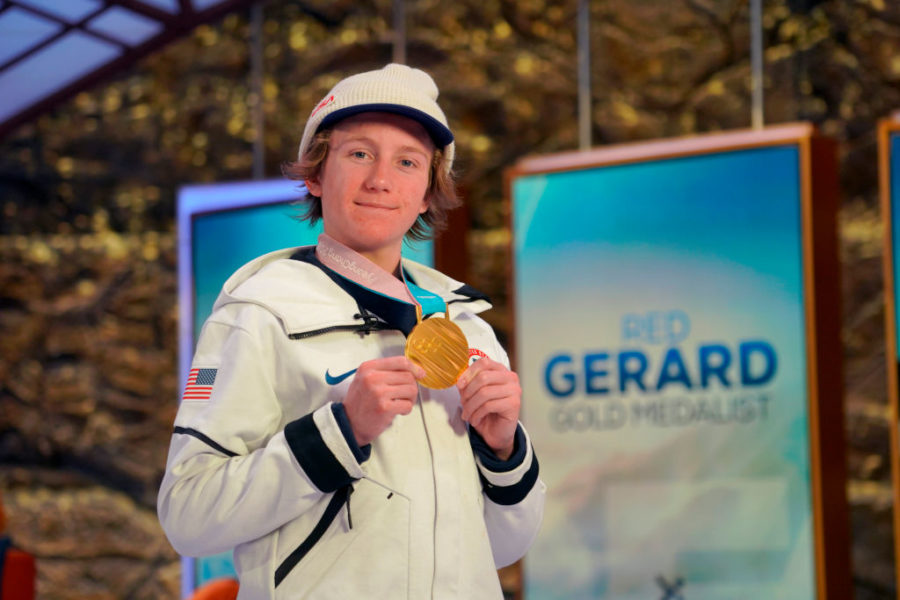 How much is Red Gerard's net worth, the snowboarder who secured the first U.S. gold medal?