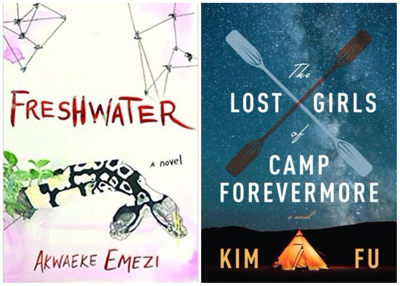 "Books coming out this week: ""Freshwater,"" ""The Lost Girls of Camp Forevermore,"" and more"
