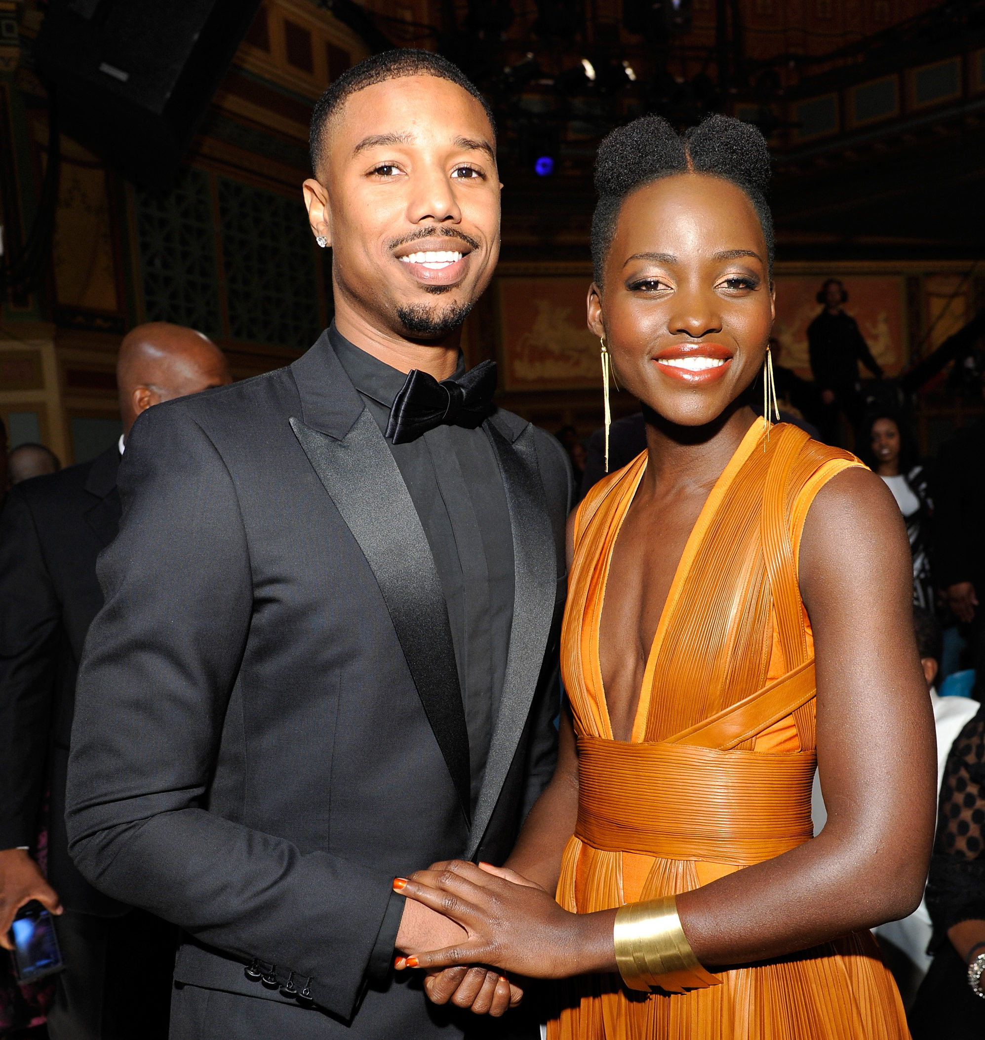 Michael B. Jordan with co-star Lupita Nyong'o