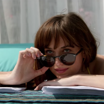 """Dakota Johnson had to have her thongs glued to her body for """"Fifty Shades Freed"""""""