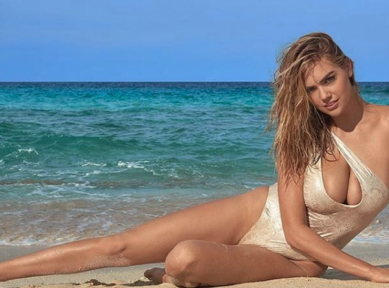 "Kate Upton fell off a giant rock during the ""Sports Illustrated"" Swimsuit shoot, and it looked painful"