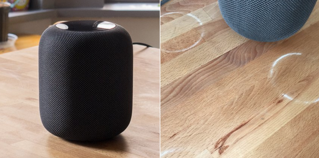 The Apple HomePod is leaving white rings on wood tables, but there's a way to clean them off
