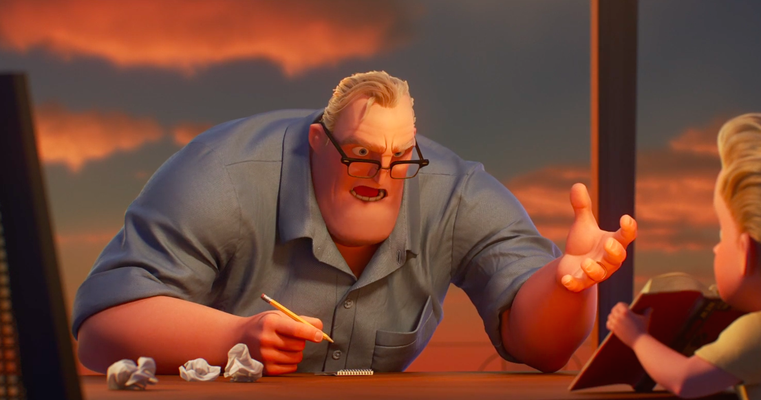 "The latest ""Incredibles 2"" trailer has Bob facing his greatest foe yet — math homework"