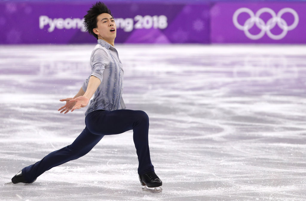 "17-year-old Vincent Zhou just made Olympic history with a ""quad lutz"""