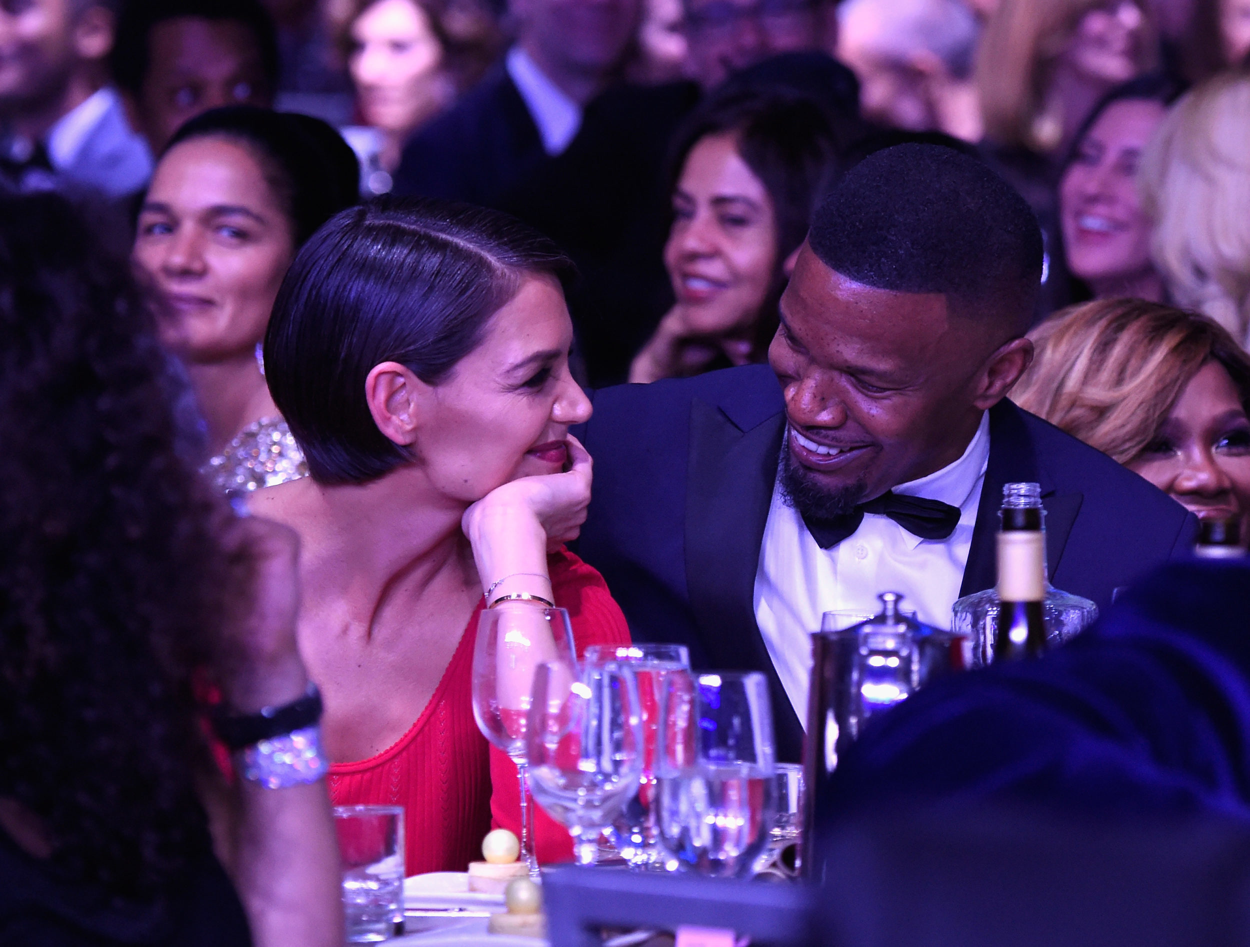 Jamie Foxx dodged a question about Katie Holmes by walking out of a live interview, and we don't blame him