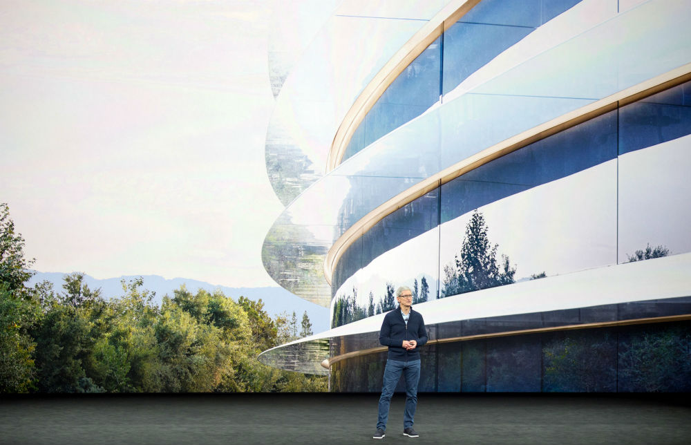 People apparently keep smashing into glass walls at Apple's fancy new headquarters