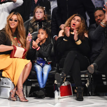 Blue Ivy brought an $1,800 Louis Vuitton purse to a basketball game, because of course