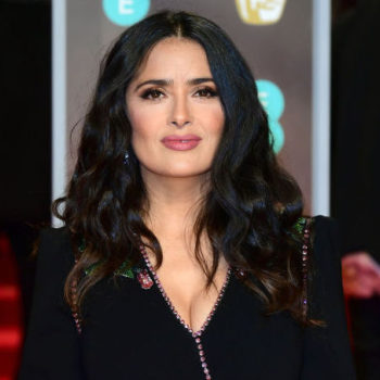 Watch Salma Hayek's politely savage takedown of the 2018 BAFTAs Best Actor category