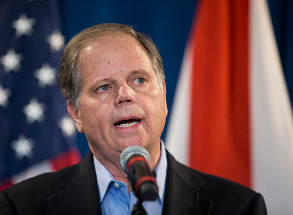 """Doug Jones just called arming teachers """"the dumbest idea I've ever heard,"""" and YES, thank you"""