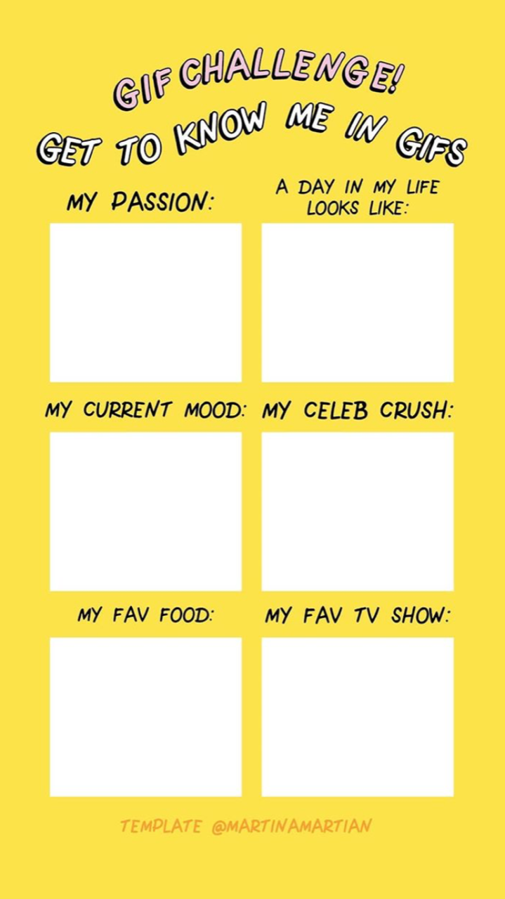 How to do the Instagram get to know me GIF Challenge - HelloGiggles