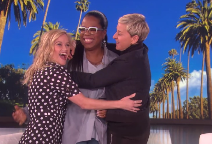 Reese Witherspoon and Ellen DeGeneres competed in trivia to prove who's better friends with Oprah