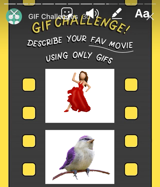 "How to do the ""favorite movie"" GIF Challenge on Instagram"
