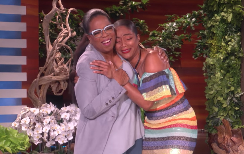 Ellen surprised Tiffany Haddish with Oprah, and this is the light we need in the darkness