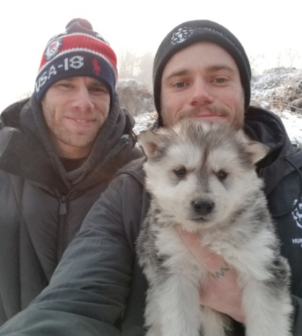 Olympic freestyle skier Gus Kenworthy adopted a puppy from a Korean dog farm, and cue the tears
