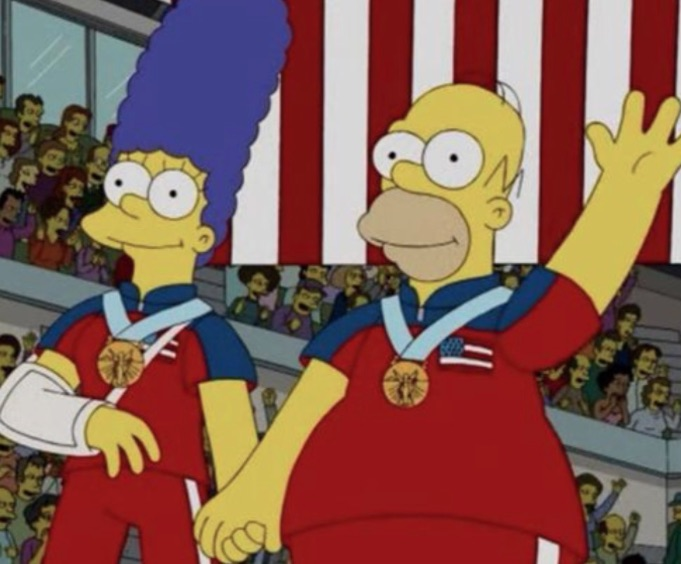 """The Simpsons"" predicted this stunning Olympic upset back in 2010, and we're not even surprised"
