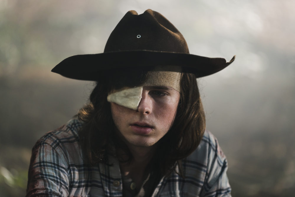 "Chandler Riggs explains why Carl died *that* way on ""The Walking Dead,"" and it is downright devastating"