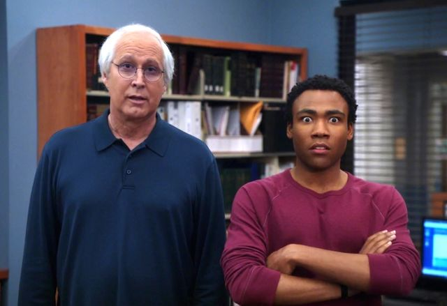 "Chevy Chase used to make racist comments to Donald Glover, so Pierce isn't invited to the prophesied ""Community"" movie"
