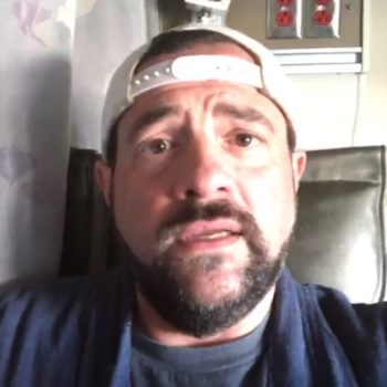 Kevin Smith got emotional in a Facebook Live session about his heart attack