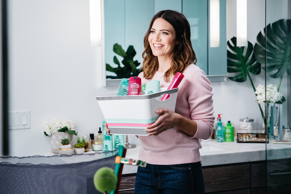 Mandy Moore and Garnier are teaching us how to recycle our beauty empties