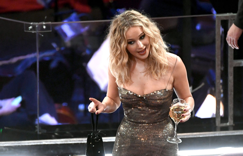 Will Jennifer Lawrence show up drunk at the Oscars? We kinda hope so