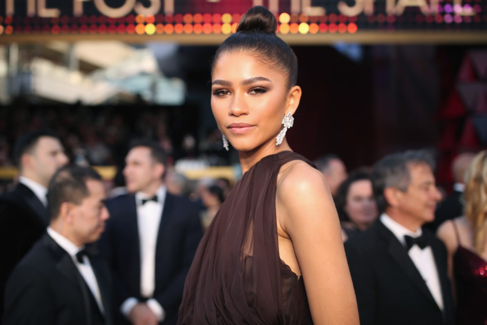 This $4 drugstore hairspray kept Zendaya's sleek top knot in place at the Oscars