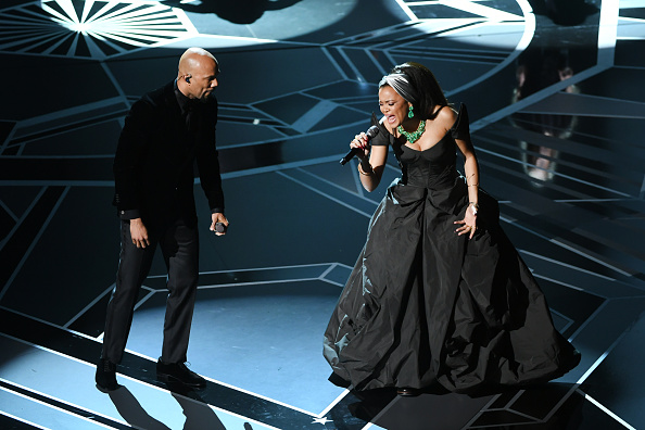 "Who were the activists on stage during Common and Andra Day's ""Stand Up For Something"" performance at the 2018 Oscars?"