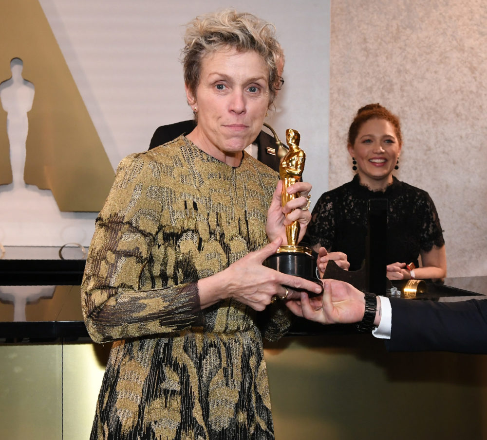 Someone stole (and returned) Frances McDormand's Oscar, and please, someone make this into a heist movie