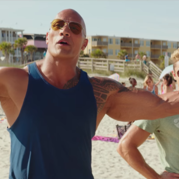 """Like a true American hero, The Rock had the best time celebrating his Razzie win for """"Baywatch"""""""