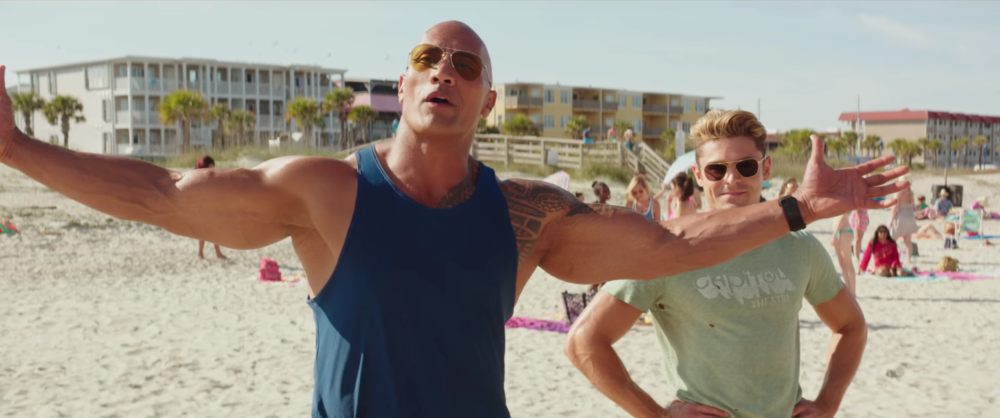 "Like a true American hero, The Rock had the best time celebrating his Razzie win for ""Baywatch"""