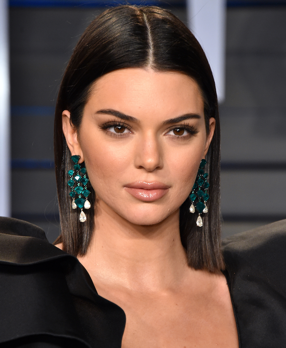 Kendall Jenner wore a dress with the shortest skirt and biggest shoulders we've ever seen
