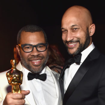 "Keegan-Michael Key celebrating Jordan Peele's Oscar win for ""Get Out"" is the best thing you'll see today"