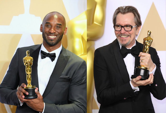 What does it mean when alleged abusers like Kobe Bryant and Gary Oldman win Oscars in the era of Time's Up?