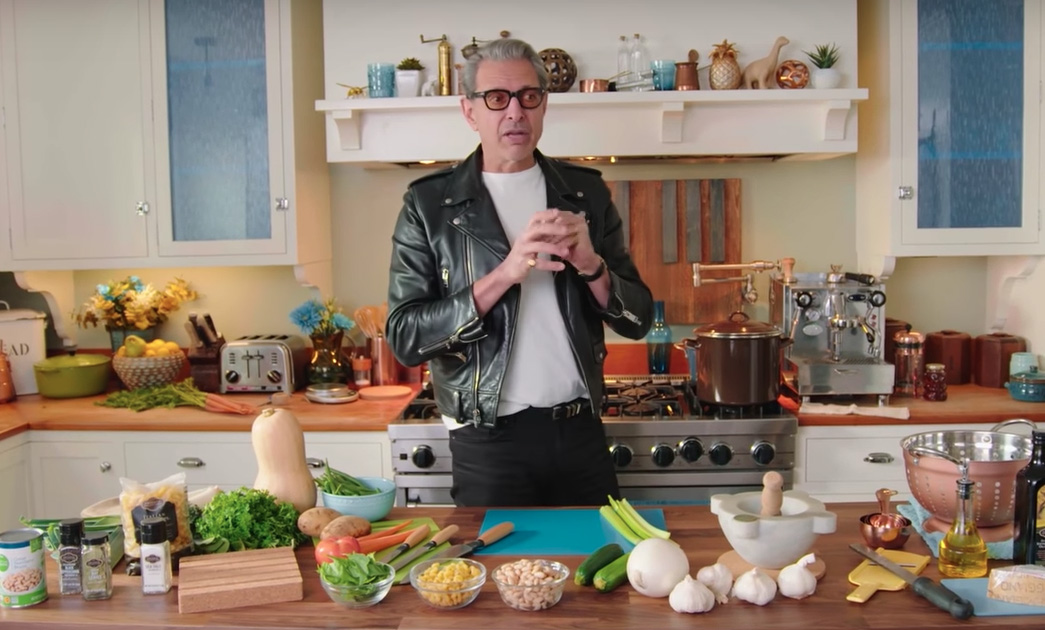 This 12-minute video of Jeff Goldblum making soup is the only video that matters anymore