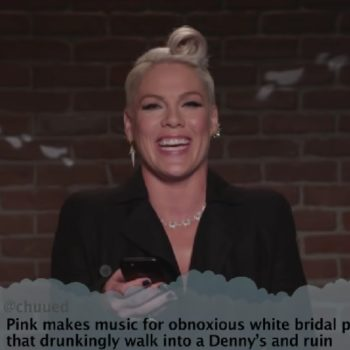 """Pink, Nick Jonas, and Blink-182 read """"Mean Tweets"""" about themselves, and they're brutal"""
