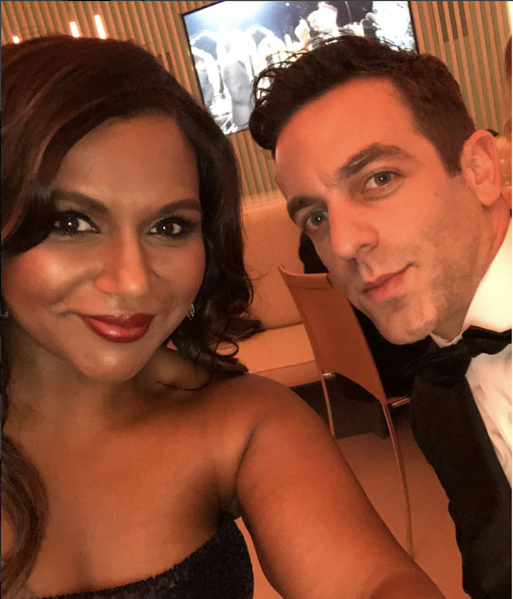 We just got MORE pics of Mindy Kaling and B.J. Novak at the Oscars, and they're totally soup snakes