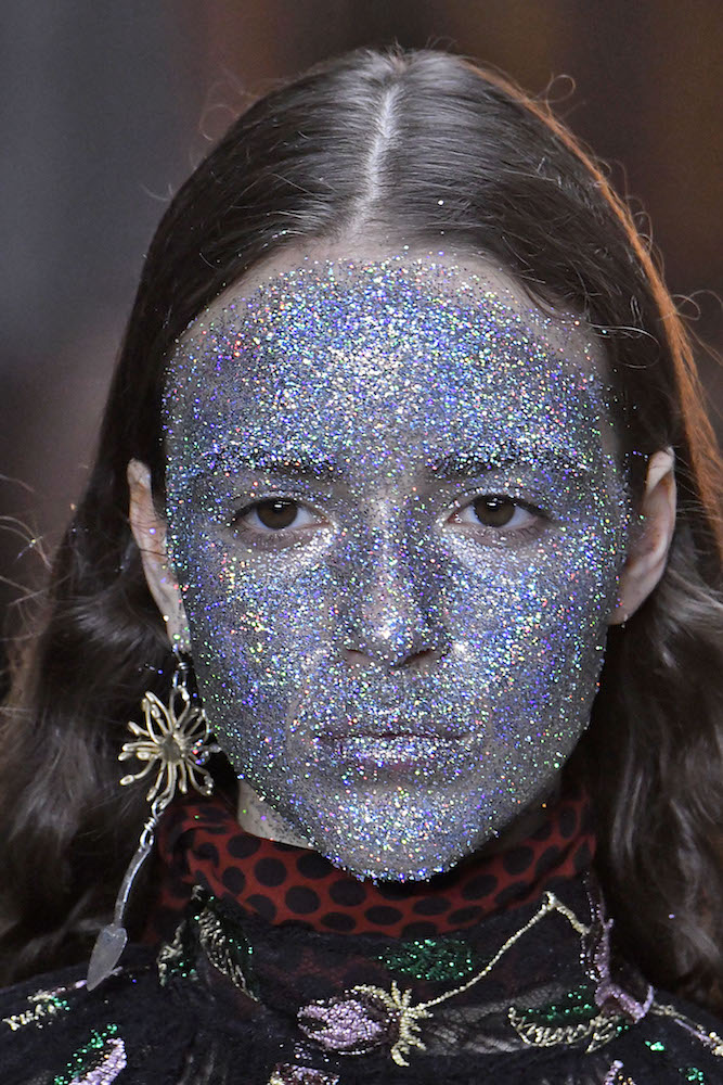 Image result for glitter face
