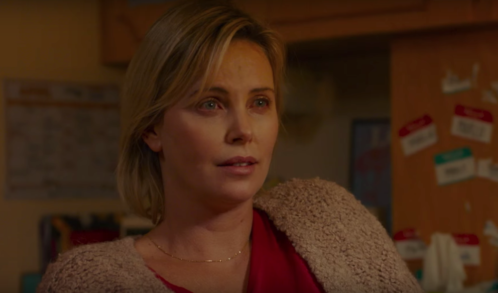 "Watch Charlize Theron face down motherhood in the new ""Tully"" trailer"
