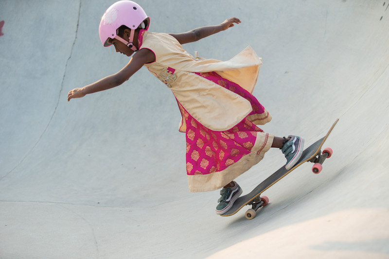 For International Women's Day, watch India's first professional female skateboarder teach girls how to skate in Vans's new video campaign