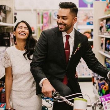 This couple took their wedding photos at Target, and it's GOALS