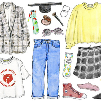Your in-between spring wardrobe, illustrated