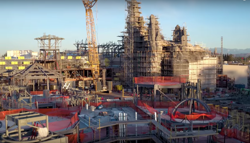 "Disney released drone footage of Star Wars Land, and it's still very much in the ""what a piece of junk"" stage"