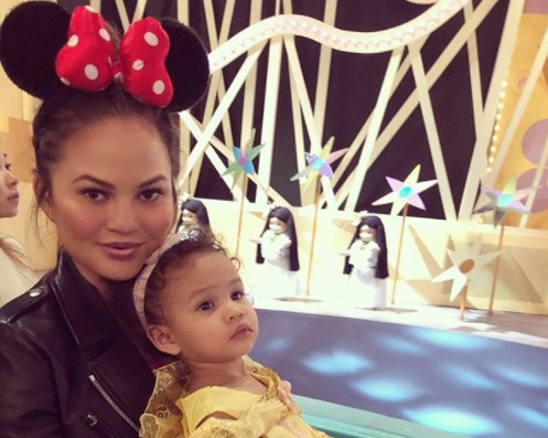 Chrissy Teigen and John Legend took Luna to Hong Kong Disneyland, and the pictures are almost too cute to handle