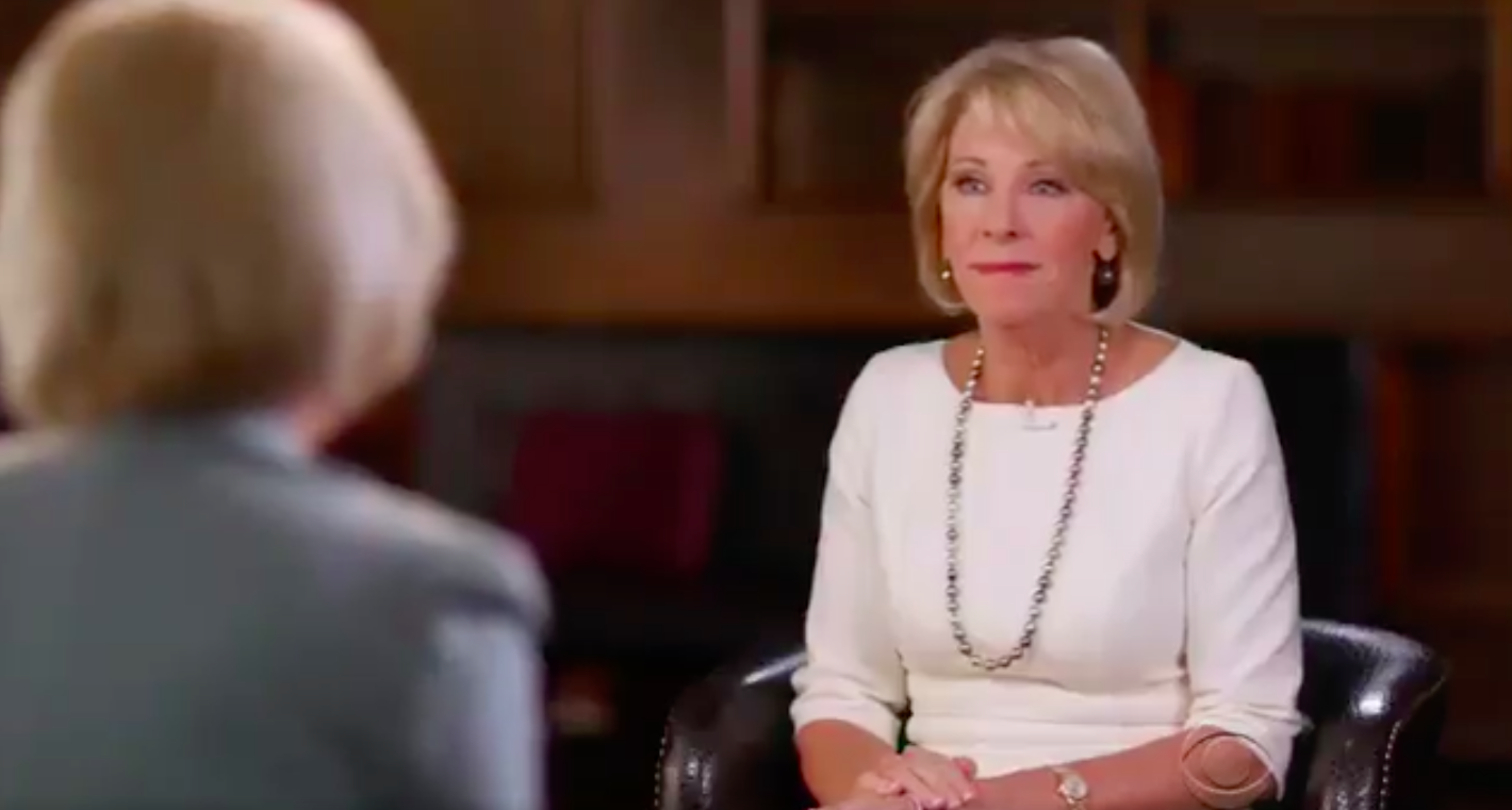 Betsy Devos Is Just Plain Wrong >> 4 Bizarre Moments From Betsy Devos 60 Minutes Interview
