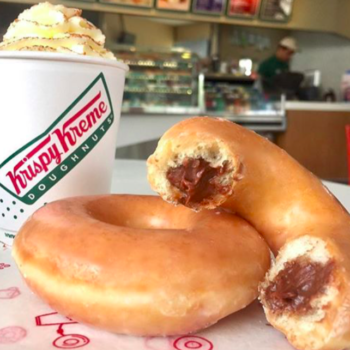 Krispy Kreme just introduced Nutella-stuffed donuts, and now heaven *really* is a place on Earth