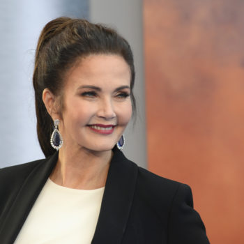 The original Wonder Woman, Lynda Carter, reveals that a crew member on the show drilled a hole into the wall of her dressing room
