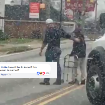 A good samaritan stopped traffic to help an elderly man cross a street, and yes, we're crying
