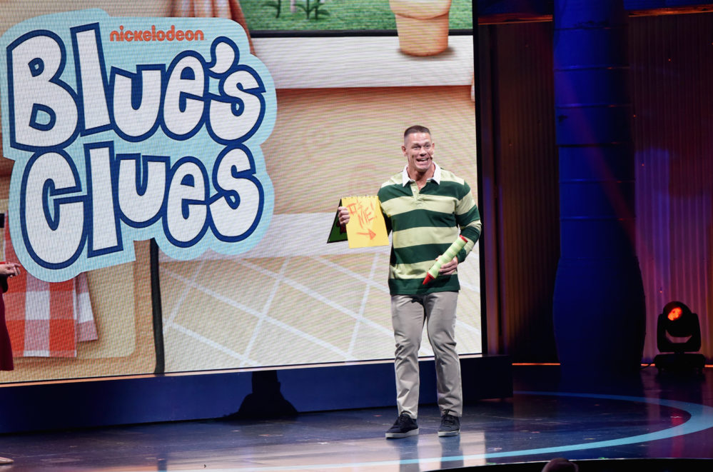 """John Cena wants to be the new host of """"Blue's Clues"""" — and Steve wants to wrestle him for it"""
