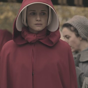 "Things look hella grim for Alexis Bledel in this new ""Handmaid's Tale"" Season 2 image"